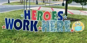 Heros Assorted Colors Yard Card